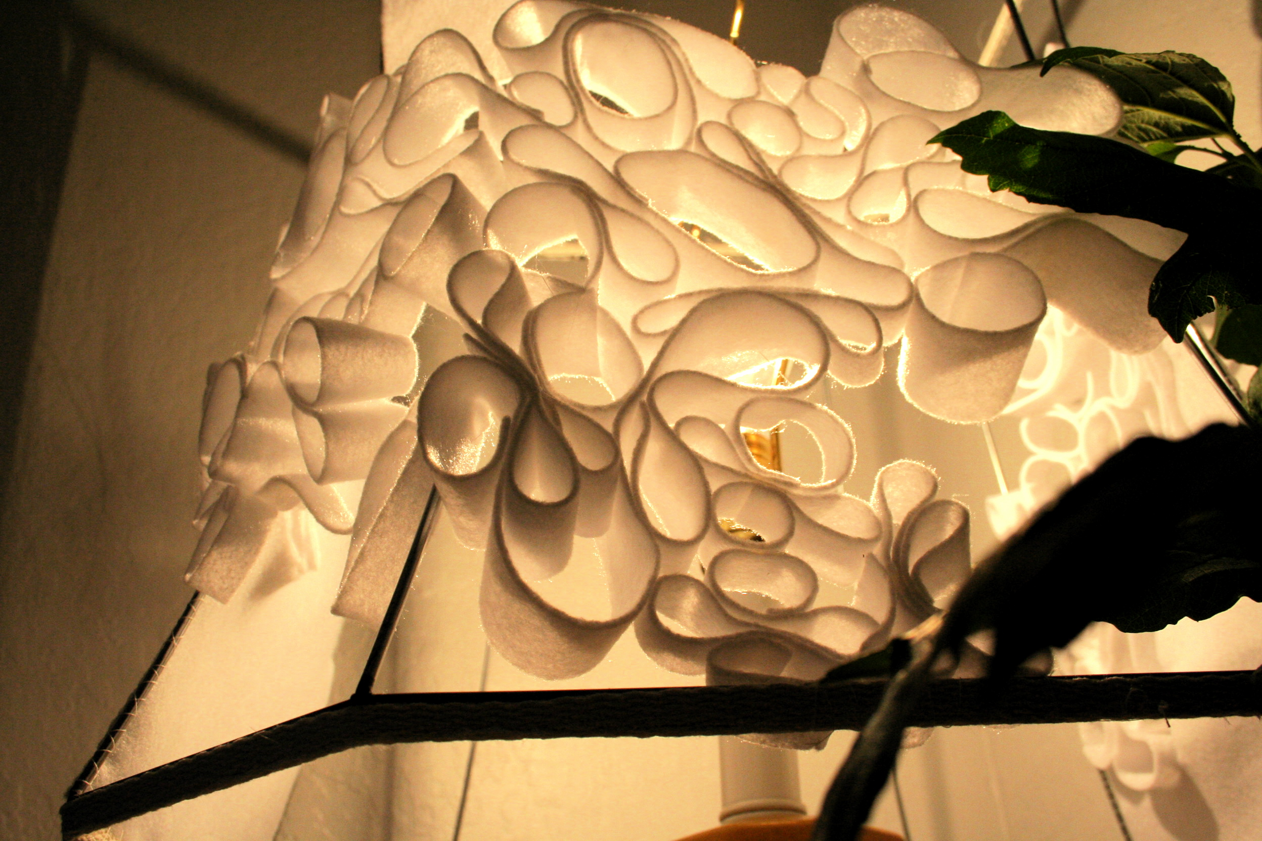 Diy Lampshade Diy Coiled Felt Lampshade Pomp And Circumstance