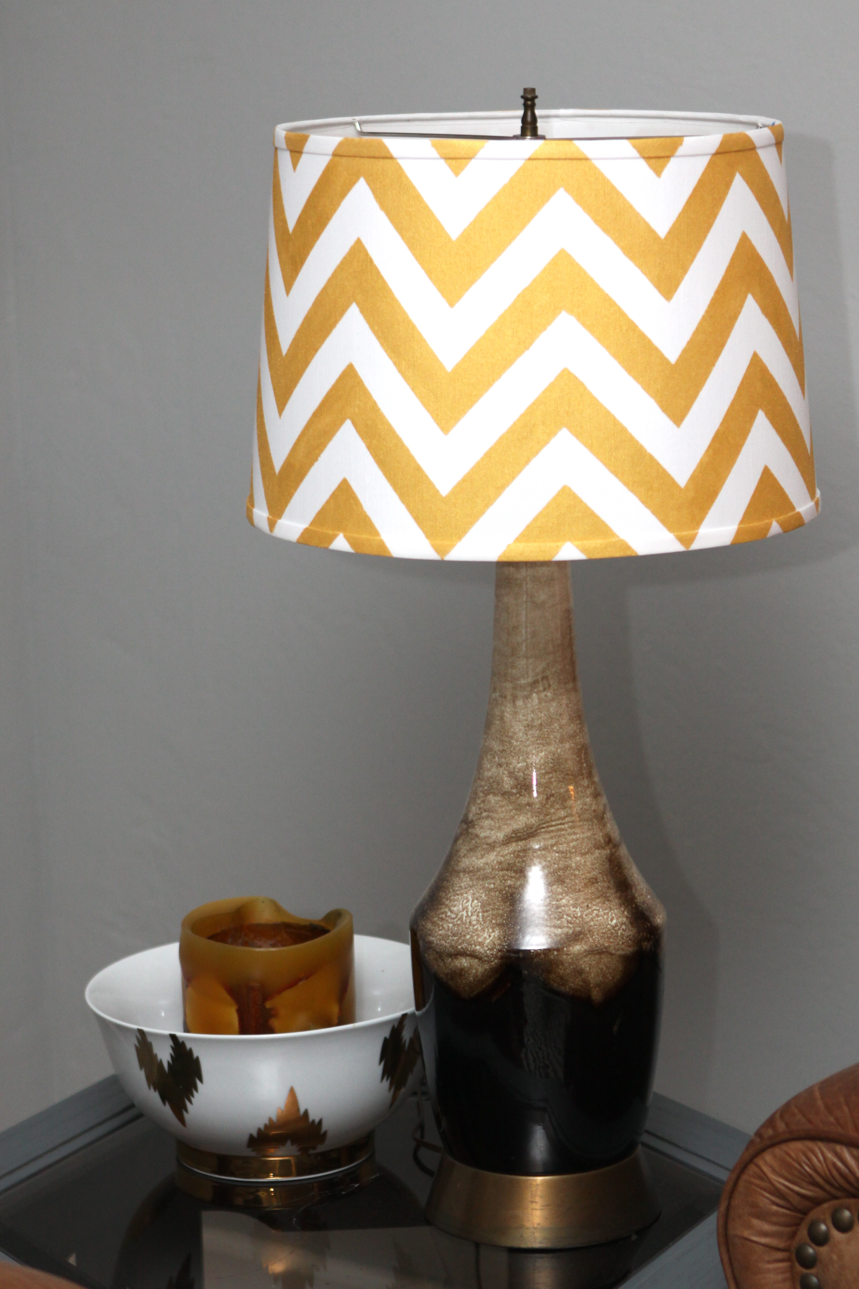 Chevron lamp shade diy pomp and circumstance advertisements mozeypictures Image collections