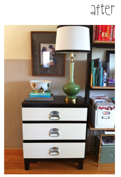 before and after ikea hack kullen dresser pomp and. Black Bedroom Furniture Sets. Home Design Ideas