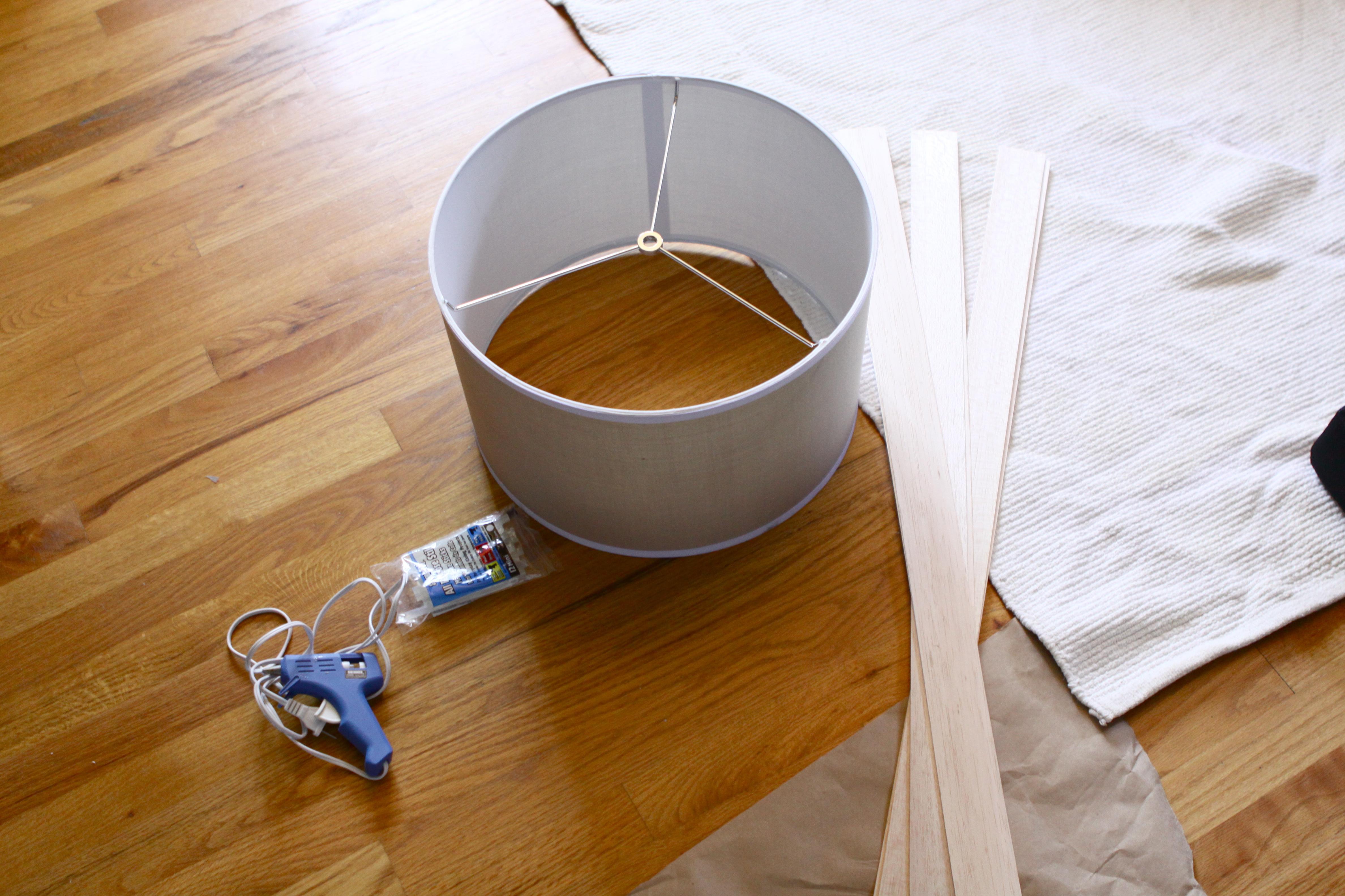 Materials: Lamp Shade, Balsa Wood ...